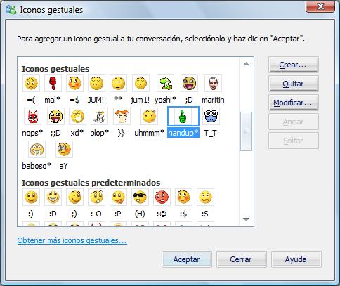 crear iconos para msn