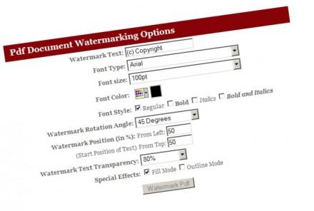 marcas de agua en PDF
