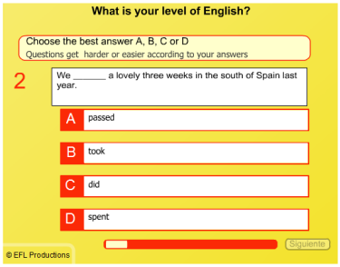 ablalenguas  test ingles