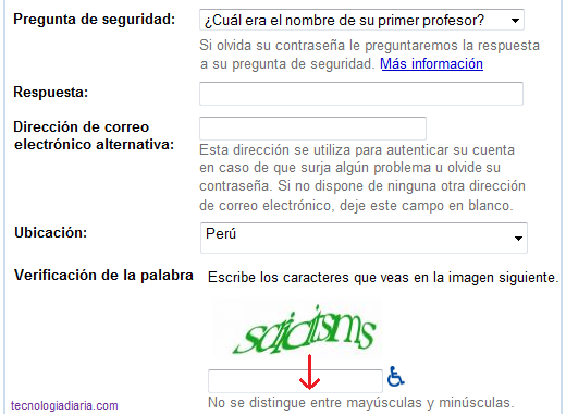crear gmail registro