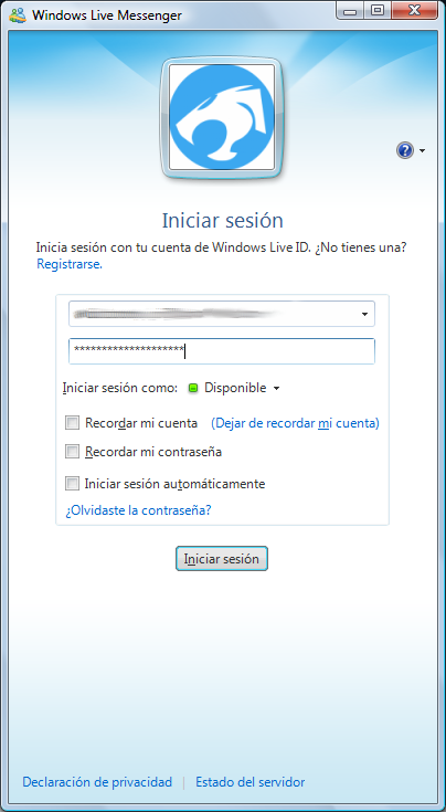 instalar MSN Messenger